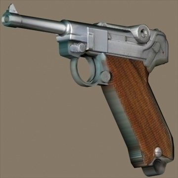 Luger 3d model 3ds max 80722