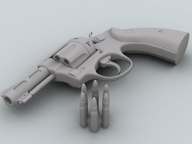 revolver 3d model 3ds max obj 122555