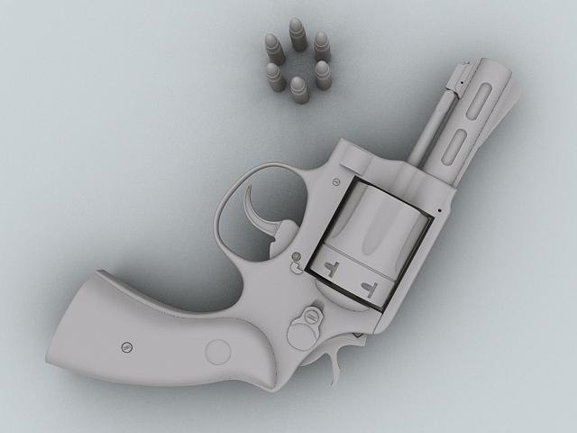 revolver 3d model 3ds max obj 122557