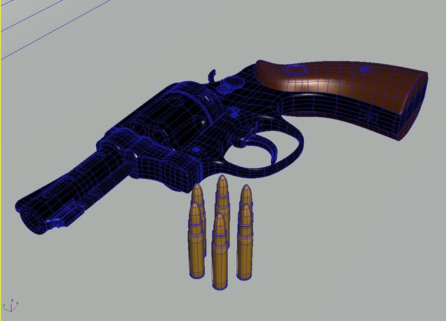 revolver 3d model 3ds max obj 122558