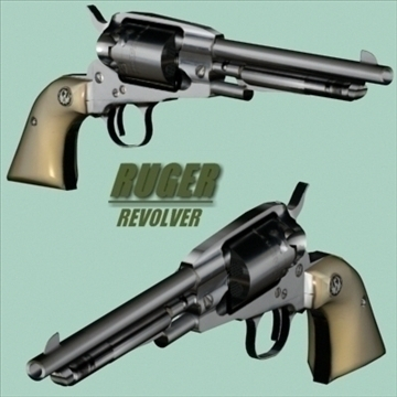 Xəndək revolver 3d model 3ds 96199