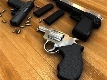 lítill handgun pakki 3d líkan 3ds c4d áferð 109104