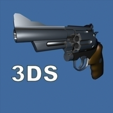 smith n wesson revolveris 3d modelis 3ds 95864
