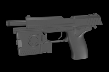 socom mk 23 45 calibur gun 3d model 3ds max ma mb 111273