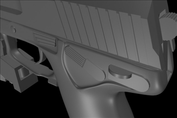 socom mk 23 45 calibur gun 3d model 3ds max ma mb 111274