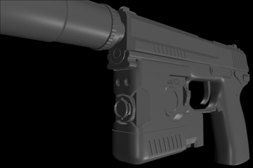 socom mk 23 45 calibur gun 3d model 3ds max ma mb 111275