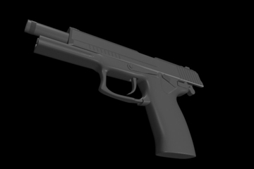 socom mk 23 45 calibur gun 3d model 3ds max ma mb 111277