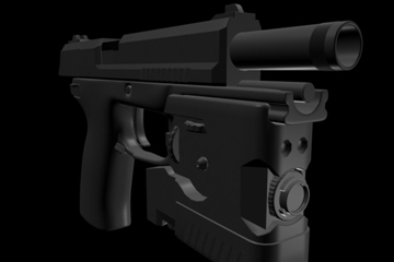 socom mk 23 45 calibur gun 3d model 3ds max ma mb 111278