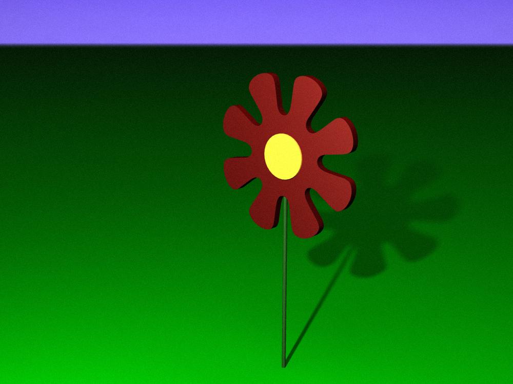 wooden flower 3d model ma mb 112772