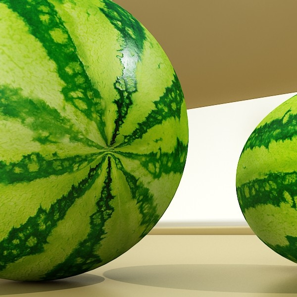 3D Model Watermelon High Res Texture ( 80.72KB jpg by VKModels )