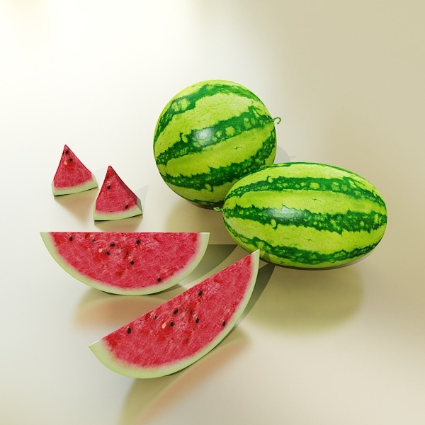 3D Model Watermelon High Res Texture ( 57.73KB jpg by VKModels )