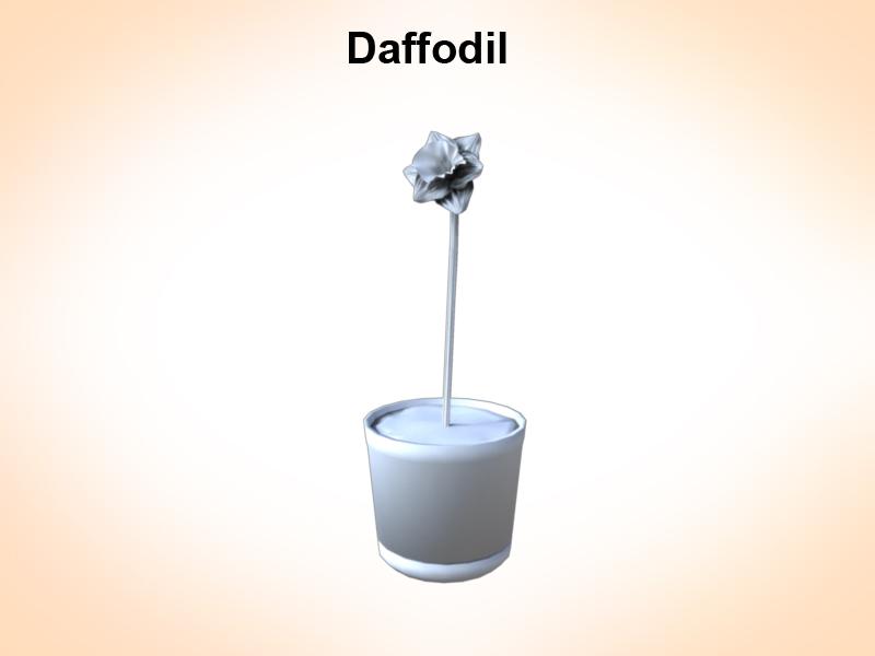 daffodil 3d model 3ds fbx c4d lwo ma mb hrc xsi obj 122309