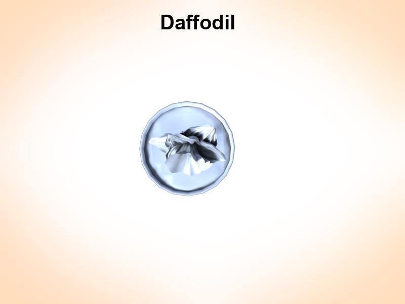daffodil 3d model 3ds fbx c4d lwo ma mb hrc xsi obj 122310