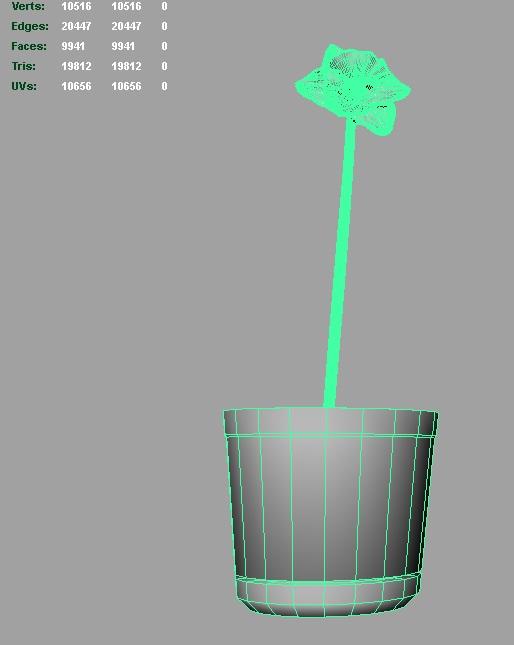 daffodil 3d model 3ds fbx c4d lwo ma mb hrc xsi obj 122312