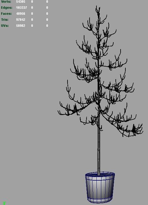 dead pines 3d model 3ds fbx c4d lwo ma mb hrc xsi obj 123492