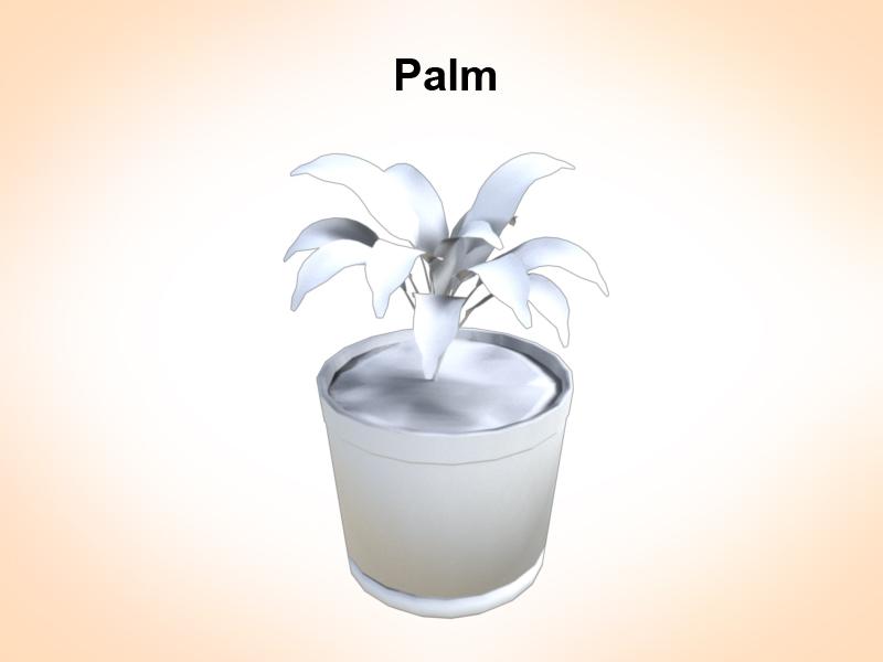 palm vase 3d model 3ds fbx c4d lwo ma mb hrc xsi obj 123967