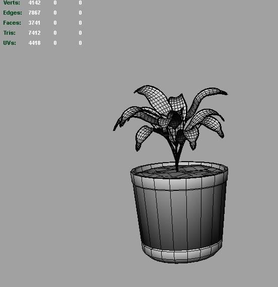 palm vase 3d model 3ds fbx c4d lwo ma mb hrc xsi obj 123968