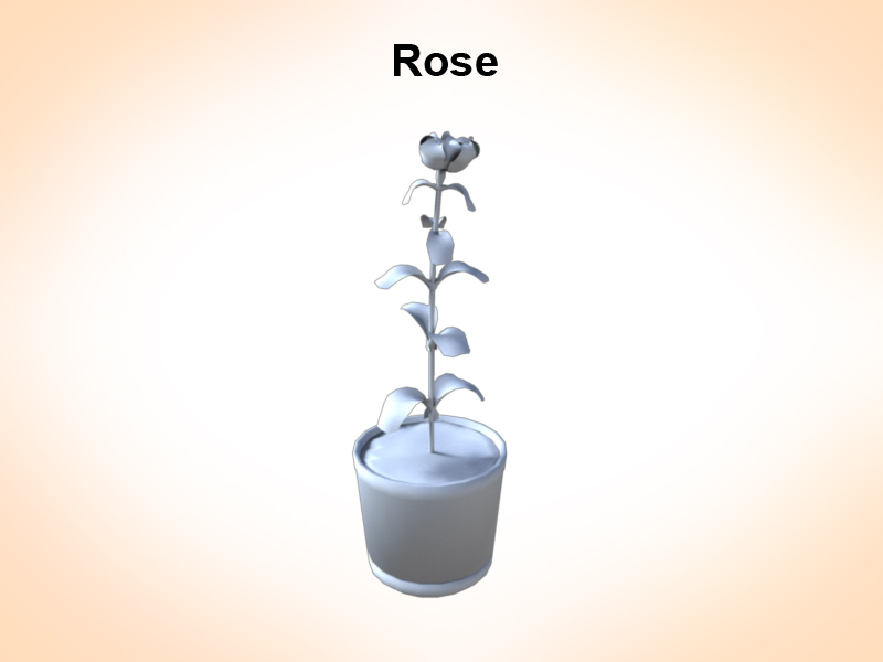 rose in the vase 3d model 3ds fbx c4d lwo ma mb hrc xsi obj 122884