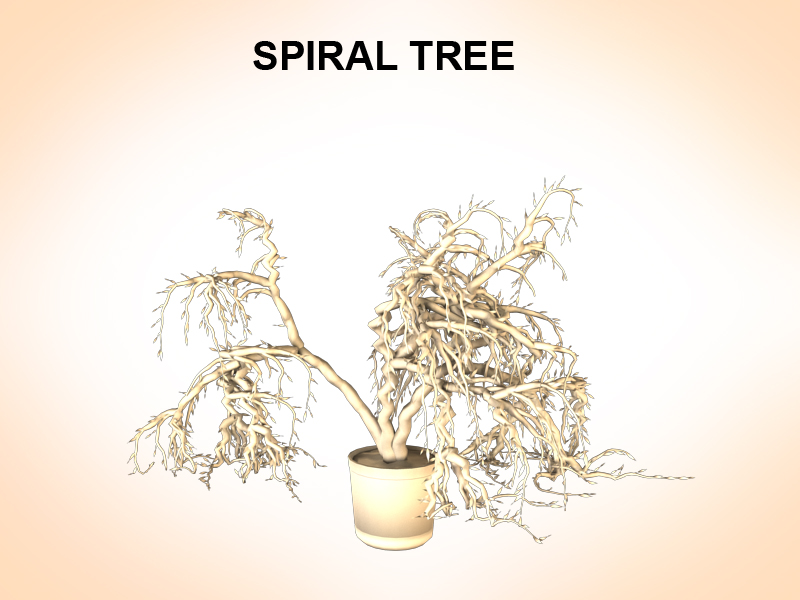 spiral tree 3d model 3ds fbx c4d lwo ma mb hrc xsi obj 123595
