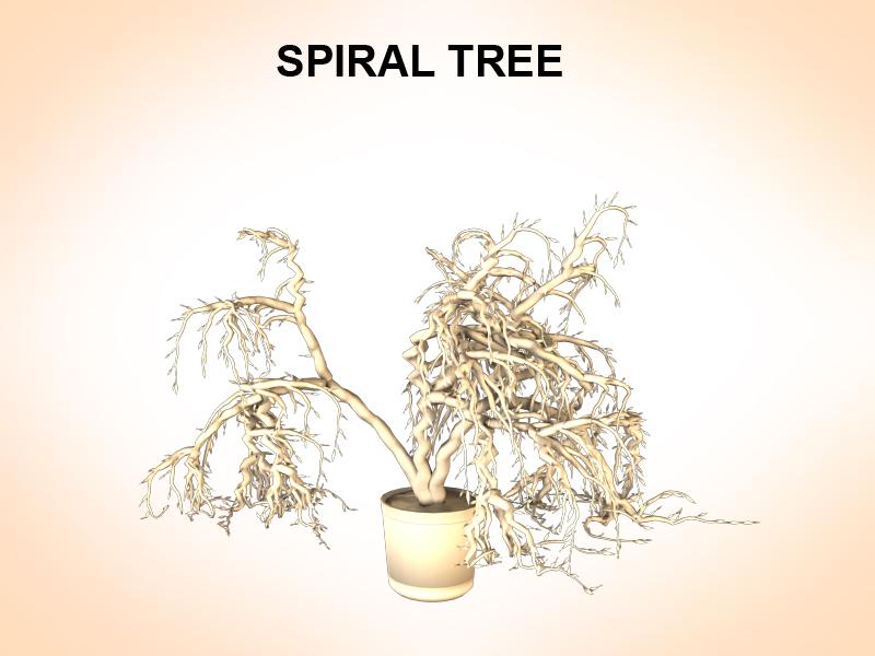 spiralno drvo 3d model 3ds fbx c4d lwo ma mb hrc xsi obj 123595