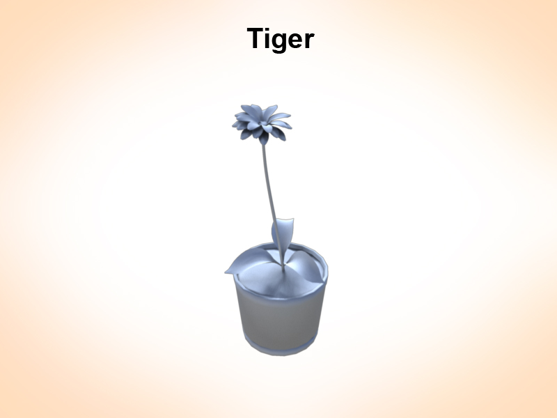 tiger lily 3d model 3ds fbx c4d lwo ma mb hrc xsi obj 122982