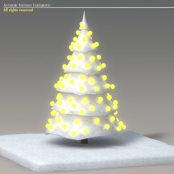 toon snow tree 3d model 3ds max dxf fbx c4d dae obj 121197