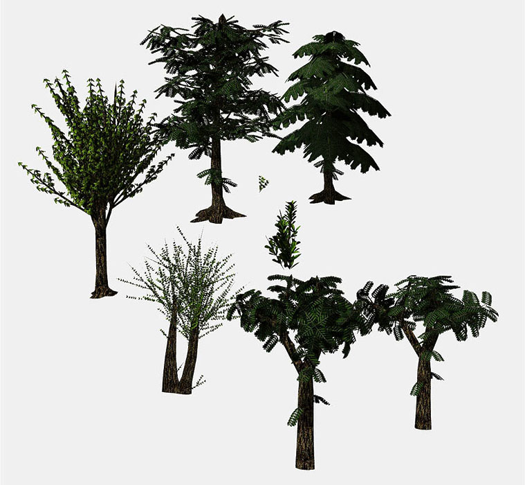 tree collection 3d model obj 164438