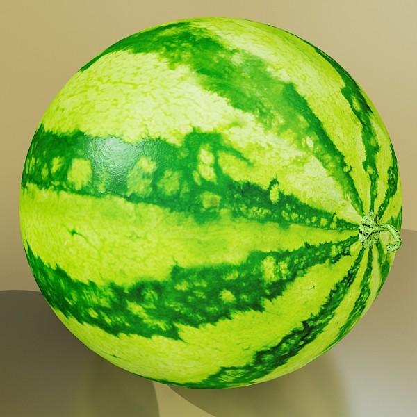 watermelon high res texture 3d model 3ds max fbx obj 133143