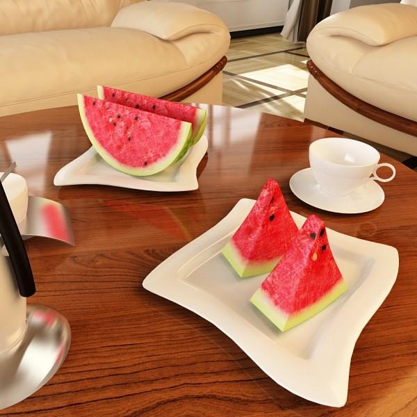watermelon high res texture 3d model 3ds max fbx obj 133144