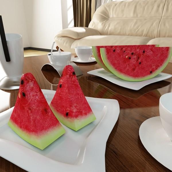 watermelon high res texture 3d model 3ds max fbx obj 133145