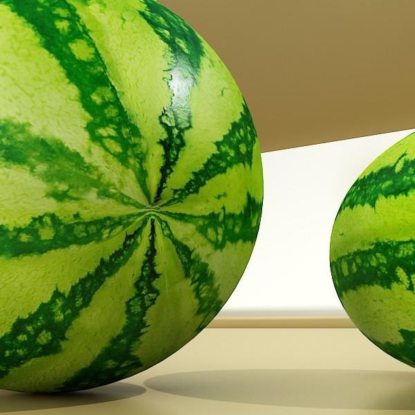 watermelon high res texture 3d model 3ds max fbx obj 133146