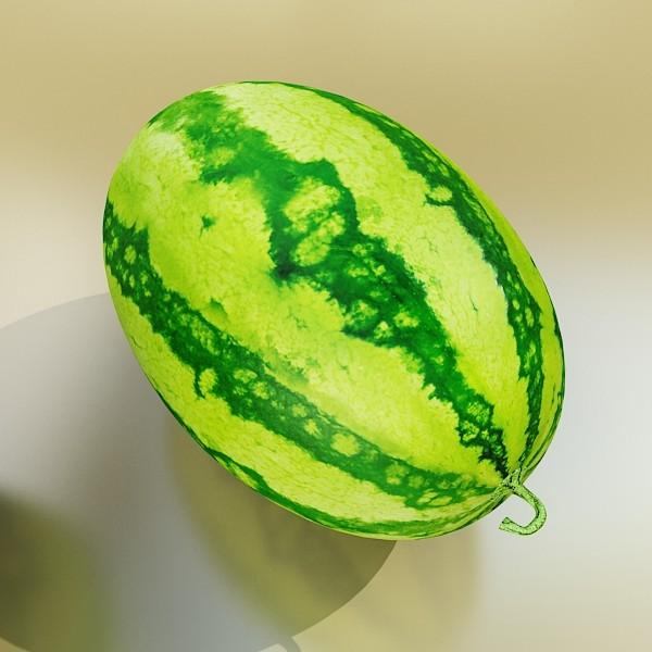 watermelon high res texture 3d model 3ds max fbx obj 133147