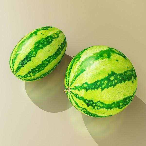 watermelon high res texture 3d model 3ds max fbx obj 133148
