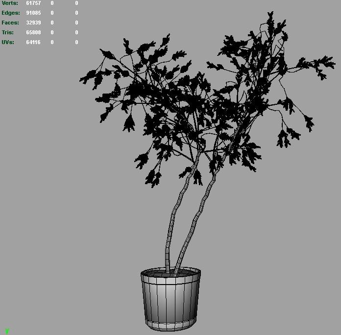 willow tree 3d model 3ds fbx c4d lwo ma mb hrc xsi obj 123680