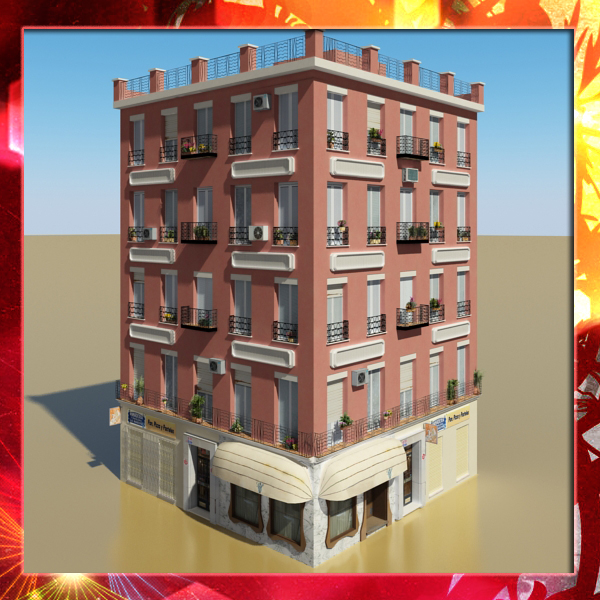 photorealistic low poly building 12 3d model 3ds max obj 149376