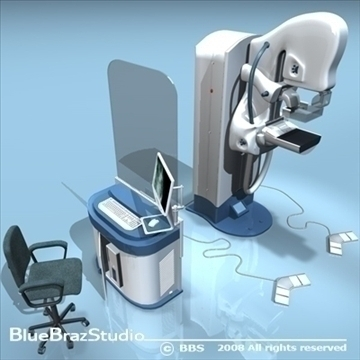 mammography equipment 3d model 3ds dxf c4d obj 89695