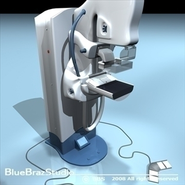 mammography equipment 3d model 3ds dxf c4d obj 89699