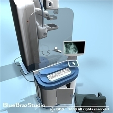 mammography equipment 3d model 3ds dxf c4d obj 89701