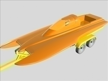 drag boat with trailer 3d model 3ds 96863