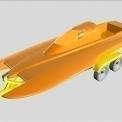 Drag Boat with Trailer ( 38.44KB jpg by ajwheels )