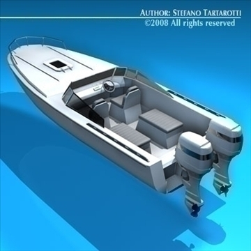 motor boat 3d model 3ds dxf c4d obj 87084