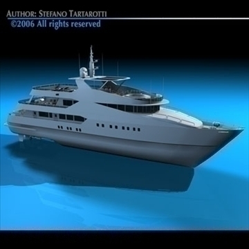 yacht 3d model 3ds dxf c4d obj 82875