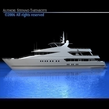 yacht 3d model 3ds dxf c4d obj 82878