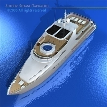 yacht 3d model 3ds dxf c4d obj 82879