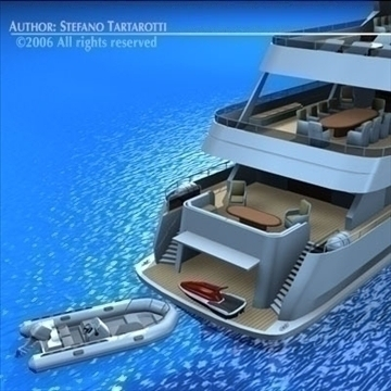 yacht 3d model 3ds dxf c4d obj 82882