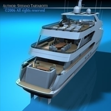 yacht 3d model 3ds dxf c4d obj 82883