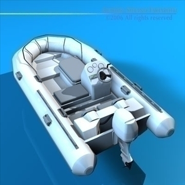 zodiak boat 3d model 3ds dxf c4d obj 82853