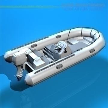 zodiac boat 3d model 3ds dxf c4d obj 82856