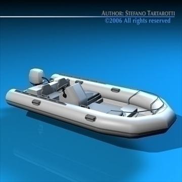 zodiac boat 3d model 3ds dxf c4d obj 82857