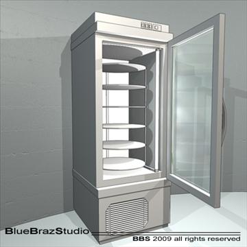 patisserie display cases 3d model 3ds dxf c4d obj 99638